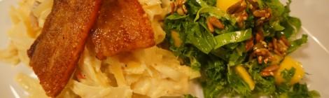 """""""Pastinara"""" med grønkålssalat"""